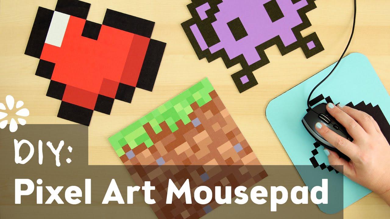 Diy Mouse Pad Diy Pixel Art Mouse Pad