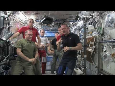 Transfer of Command Ceremony from Hadfield to Vinogradov