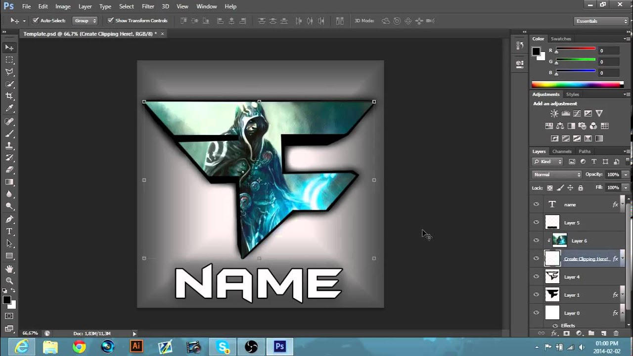 Faze Logo 2014 Template Download Youtube