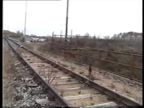 Uwe Koch: Bílá souprava metra 81-71M na zkušební trati depa Hostivař (listopad 2000)