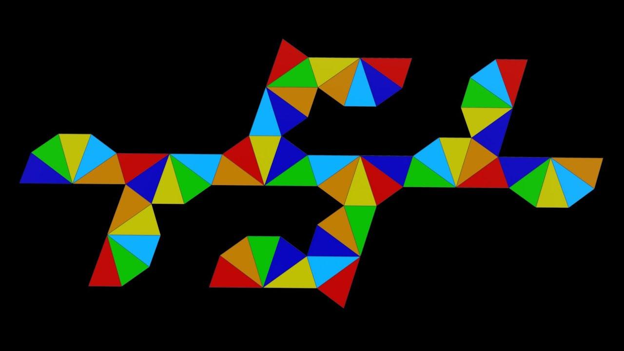 Как склеить правильный многогранник из бумаги