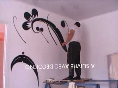 Dessin et peinture sur le mur 2 youtube - Faire une bande de peinture sur un mur ...