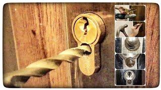 Jak rozwiercić wkładkę zamka w drzwiach? Awaryjne otwieranie drzwi bez klucza