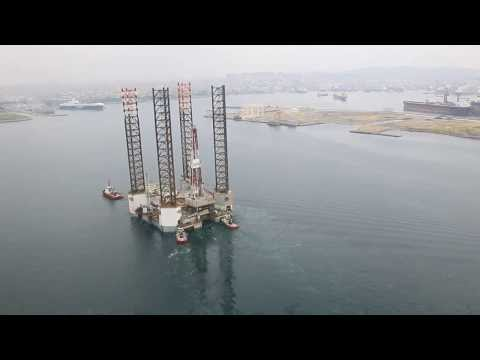 OIL RIG BERTHING OPERATION TO SHIPYARD