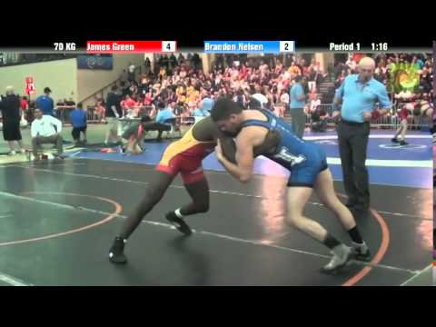 Men`s Freestyle 70 KG James Green vs. Brandon Nelsen