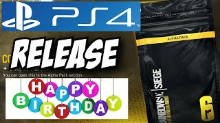 Rainbow Six Siege Alpha Packs PS4 Release BIRTHDAY STREAM Console Gameplay Playstation 4