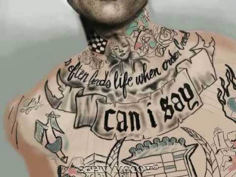 far. just the tattoos alone is a work of art. (This track is dope boyz