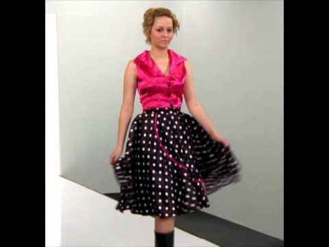 50 39 S Ladies Rock N 39 Roll Fancy Dress Costume Youtube