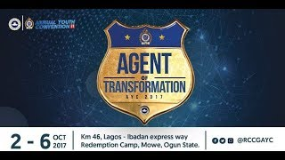 RCCG ANNUAL YOUTH CONVENTION (AYC)/COMMUNION SERVICE, OCTOBER 2017