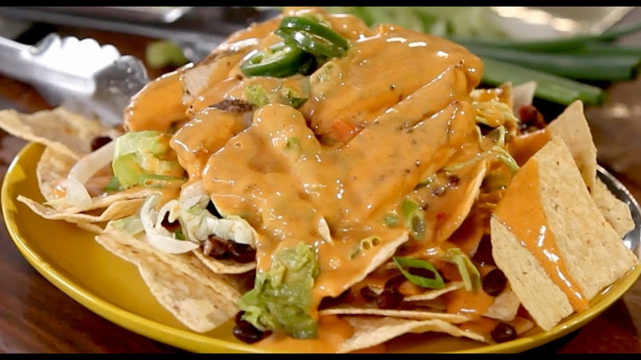 Grilled Chicken Nachos - Grill This with Nathan Lippy - YouTube