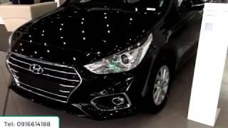 Xe Hyundai Accent 2018 - 2019 1.4 at số tự động bản thường tiêu chuẩn màu đen