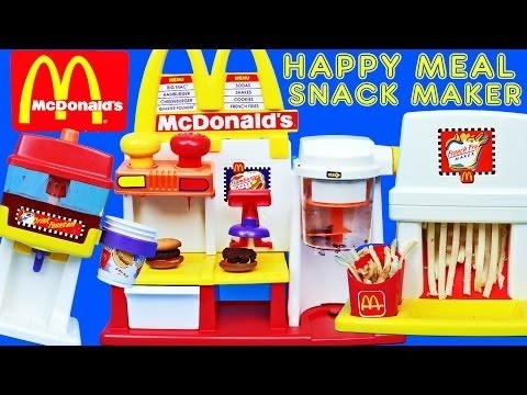 MEGA McDonalds Happy Meal Magic Snack Maker Set Hamburger French Fries & Drink Makers DisneyCarToys