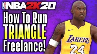 "NBA 2K20 - How to Run the ""TRIANGLE OFFENSE!""  Best Freelance Tutorial"