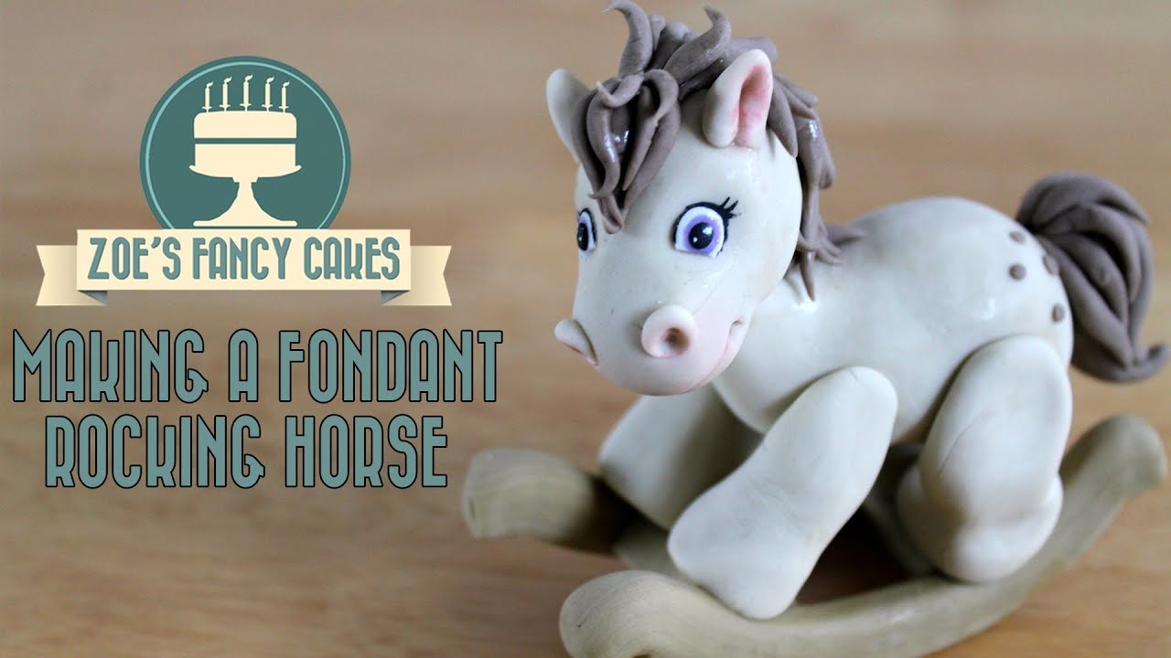 how to make a rocking horse out of fondant