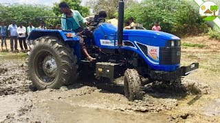 Ace tractor 450 vs John deere 5050 tractor / Tractors power in mud place - Come to village