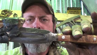 Blacksmithing - Highlight Video - Forging Welding Chainsaw Chain And Pattern Dagger