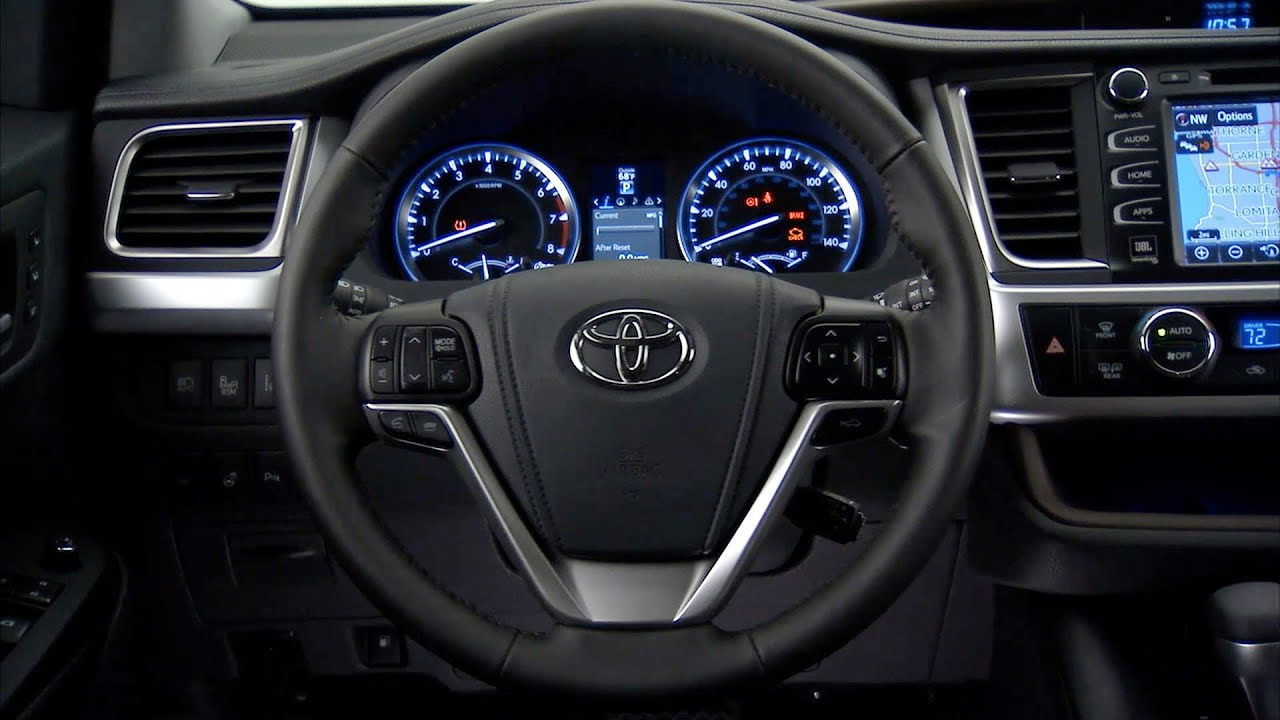2014 Toyota Highlander Interior Youtube
