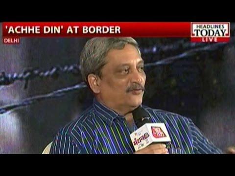 Union Defence Minister Manohar Parrikar At Manthan AajTak