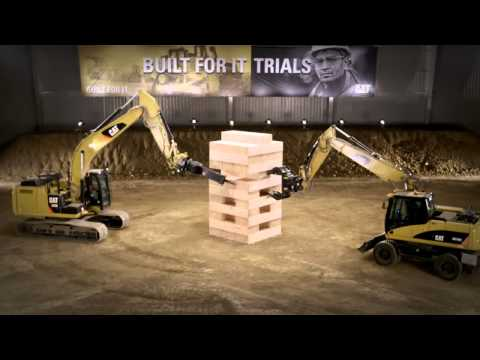 Mayor Juego de mesa - JENGA® con Excavadoras Cat®. #BuiltForIt Trials.