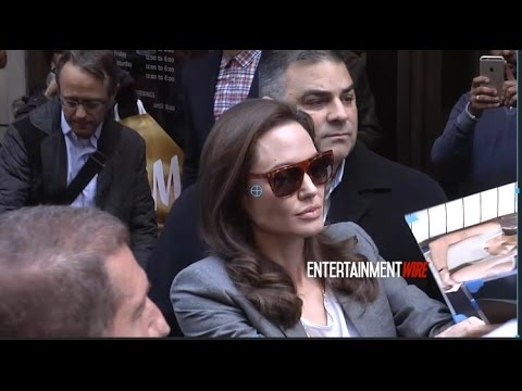 Angelina Jolie paparazzi, Fan frenzy leaving The Paley Center For Media in NYC