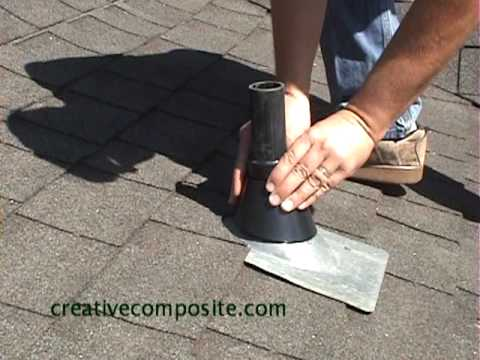 Roof Repair Of Plumbing Vent Pipe Youtube