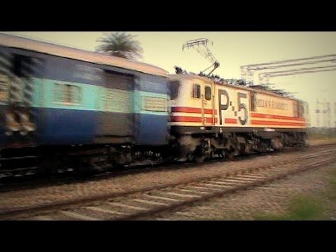 Bold p5 Scribbled Wap-5 Rockets Past Asaoti With 95 Halts Firozpur Mumbai Janta Express!! video