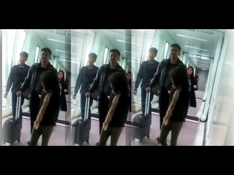 Ilayathalapathy Vijay and his Family on the way to London