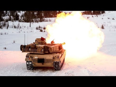Monstrously Powerful M1 Abrams & Leopard 2 Tanks in Action - Heavy Live Fire at Winter Time