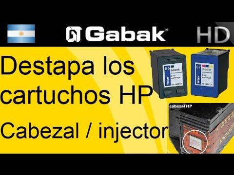 destapando inyectores/cabezal impresora HP