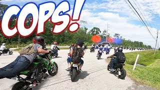 COPS vs 300+ Honda Groms!