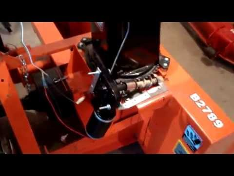 kubota b2789 snowblower custom built electric chute deflector and electric rotator