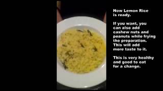 Lemon Rice Yellow Easy and Healthy