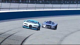 Bugatti Chiron vs Mercedes CLK GTR - OVAL TRACK
