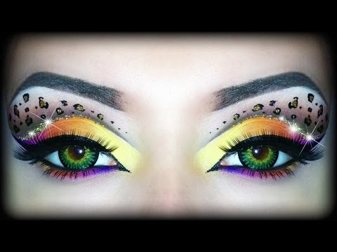 Rainbow Leopard Print - Makeup Tutorial (Sexy Halloween Look) ft. Too Faced