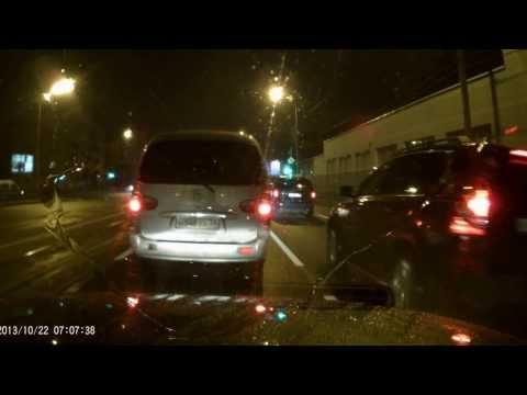 Видеорегистратор Prestigio RoadRunner 505 съёмка ночью