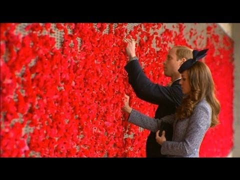 Anzac Day marked in Australia with Kate and Prince William