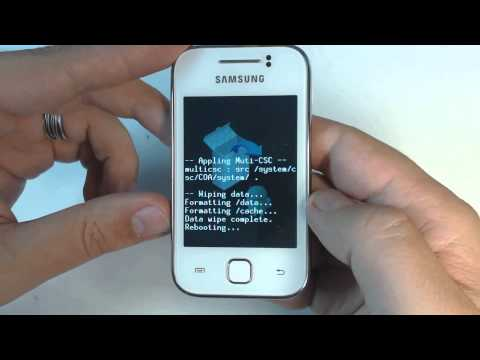 Samsung Galaxy Y S5360 - How to remove pattern lock by hard reset