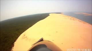Aerial video of the Grande Dune De Pilat (Pyla)
