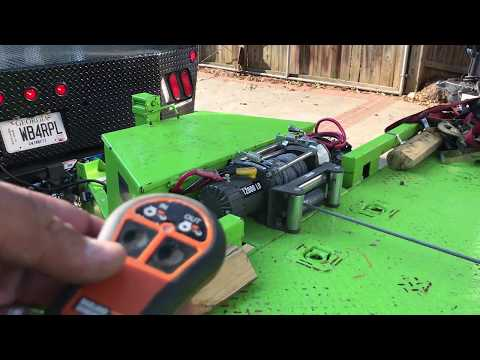 Harbor Freight Badlands 12,000lb winch review and instal On Custom Car Trailer