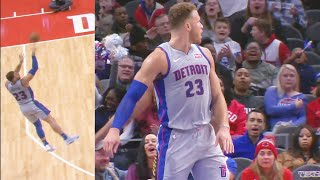 Blake Griffin Shocks Entire Pistons Crowd With His Craziest Shot! Pistons vs Pacers