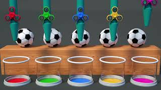 Learning colours with soccer ball's.