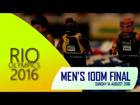 LEGO Usain Bolt wins the Men's 100m at Rio 2016 Olympics