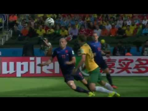 FIFA World Cup 2014 - Australia 2-3 Netherlands [All goals]