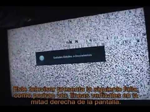 Como arreglar / reparar lineas verticales en mitad de pantalla TV LCD,