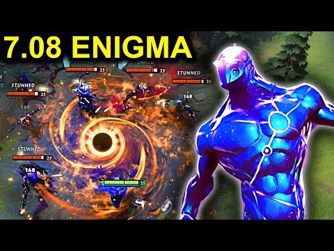 EPIC ENIGMA PATCH 7.08 DOTA 2 NEW META GAMEPLAY #15 (CARRY ENIGMA FUNNY MOMENTS)