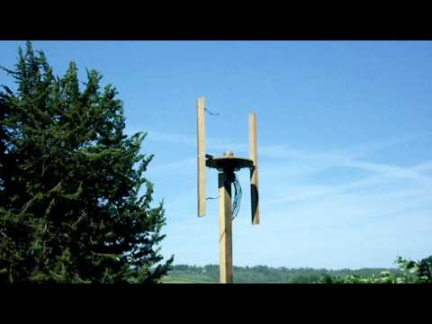Experimental H rotor vertical axis wind turbine
