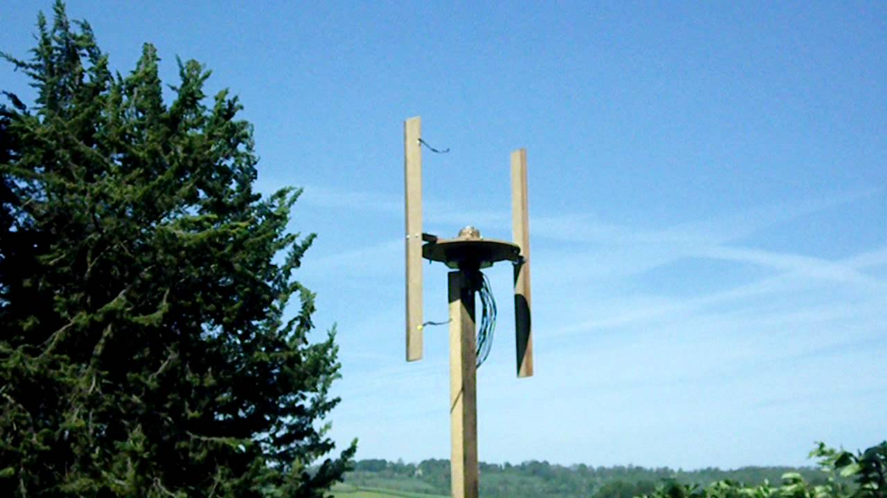 Experimental H rotor vertical axis wind turbine - YouTube