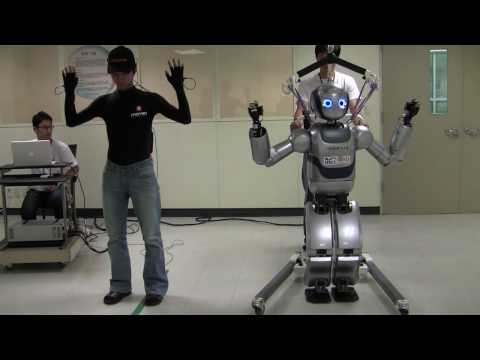 Mahru Humanoid Robot Real-Time Teleoperation