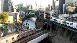 Japan Trip 2013 Tokyo Trains run of JR Chūō Line and Sōbu Line or Tokyo Metro Marunouchi Line