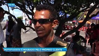 Mototaxista é assaltado por cliente- Balanço Geral Manhã